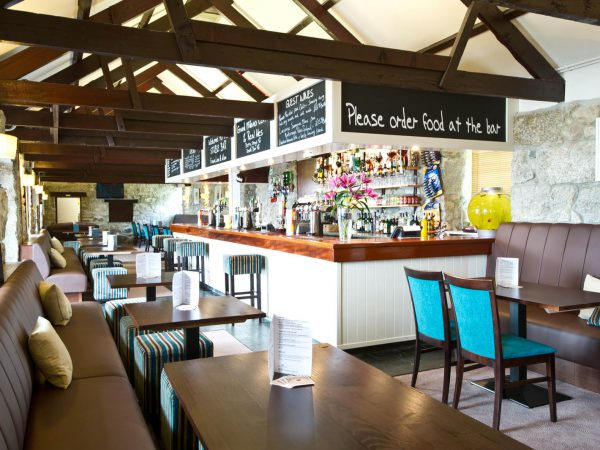 Stable Bar and restaurant at Polmanter Touring Park St Ives