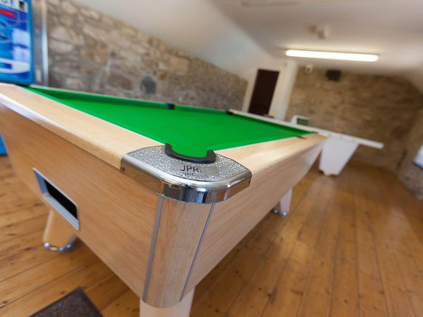 Games room at Polmanter Touring Park St Ives